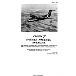 De Havilland Dash 7 Engine Rigging Manual 1983 - 1984 $9.95