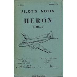 De Havilland Heron C Mk.3 Pilot's Notes 1955 $4.95