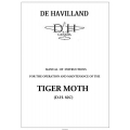 De Havilland Tiger Moth D.H. 82C Operation and Maintenance Manual $5.95