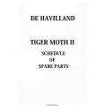 De Havilland Tiger Moth II Spare Parts Schedule $5.95