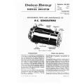 Delco D.C. Generators Adjustments, Test and Maintenance $9.95