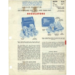 Delco Remy IR-116 Regulators Service Bulletin $9.95