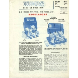 Delco Remy IR-115 Regulators Service Bulletin $9.95
