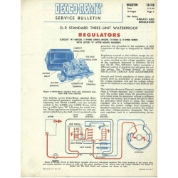 Delco Remy IR-118 Regulators Service Bulletin $9.95