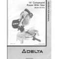 "Delta 36-075 10"" Compound Power Miter Saw Instruction Manual 1998 $4.95"