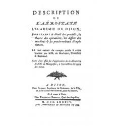 Description de L'aerostate L'academie de Dijon