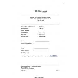 Diamond DA 40 NG Airplane Flight Manual/POH 2010