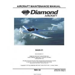 Diamond DA20-C1 Aircraft Maintenance Manual 2014 $29.95