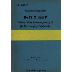 Dornier Do 17M und P Entwurf einer Bedienungsvorschrift