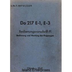 Dornier Do 217 E-1, E-3 Bedienungsvorschrift-FI Bedienung und Wartung des Flugzeuges