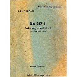 Dornier Do 217 J Bedienungsvorschrift-FI $4.95