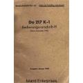 Dornier Do 217 K-1 Bedienungsvorschrift-FI $4.95