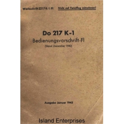 Dornier Do 217 K-1 Bedienungsvorschrift-FI