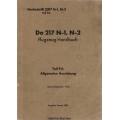 Dornier Do 217 N-1, N-2 Teil 9A Flugzeug-Handbuch $4.95