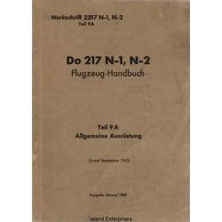 Dornier Do 217 N-1, N-2 Teil 9A Flugzeug-Handbuch