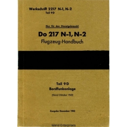 Dornier Do 217 N-1, N-2 Teil 9D Flugzeug-Handbuch
