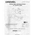 "Dremel 1680, Variable Speed 16"" Scroll Saw Owner's Manual 2000 $4.95"