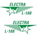 Lockheed Electra L-188 Aircraft Logo,Decals!
