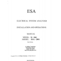 ESA M-2001 and ESA-2001 Electrical System Analyzer Installation and Operations Manual 1994 $4.95