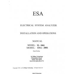 ESA M-2001 and ESA-2001 Electrical System Analyzer Installation and Operations Manual 1994