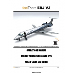 Embraer Regional Jets ERJ V2 135LR, 145LR and 145XR Operations Manual $4.95