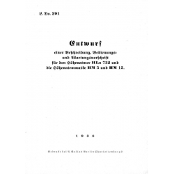 Entwurf einer Beschreibung, Bedienungs und Wartungsvorschrift