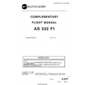 Eurocopter AS 332 F1 Complementary Flight Manual/POH $5.95