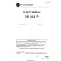 Eurocopter AS 332 F1 Flight Manual/POH $5.95