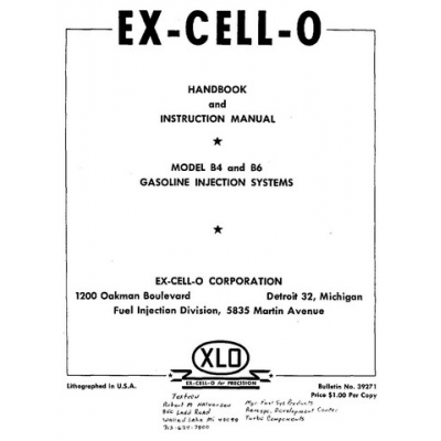 Ex cell o b4 and b6 gasoline injection systems handbook and ex cell o b4 and b6 gasoline injection systems handbook and instruction manual 495 publicscrutiny Image collections