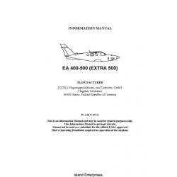 Extra EA 400-500 (Extra 500) Pilot's Operating Handbook 2004 - 2011