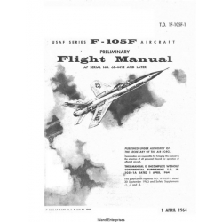 Republic F-105F USAF Series Aircraft Preliminary Flight Manual/POH 1964 $5.95