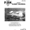 Northrop F-20A Tigershark Aircraft NTM 1F-20A-1 Utility Flight Manual/POH 1984 $9.95