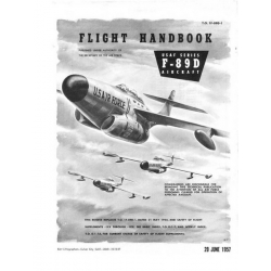Northrop F-89D USAF Series Aircraft T.O. 1F-89D-1 Flight Handbook 1957