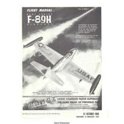 Northrop F-89H USAF Series Aircraft T.O. 1F-89H-1 Flight Manual/POH 1958 - 1959