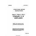 Vought F4U-1, F3A-1, FG-1 & CORSAIR I, II, III Airplanes Structural Repair Instructions 1944 $9.95