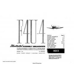 Vought F4U-4 Illustrated Assembly Breakdown 1944