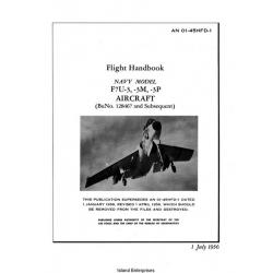 Vought F7U-3, 3M & 3P Navy Model Airplanes Flight Handbook 1956