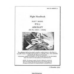 Vought F7U-3 Navy Model Aircraft Flight Handbook 1952 $5.95