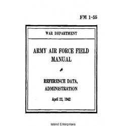 FM 1-55 Army Air Force Field Manual Reference Data, Administration $2.95