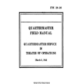 FM 10-10 Quartermaster Service in Theater of Operations Field Manual $2.95