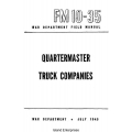 FM 10-35 Quartermaster Truck Companies Field Manual $2.95