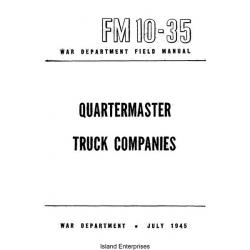 FM 10-35 Quartermaster Truck Companies Field Manual $2.95