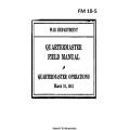 FM 10-5 Quartermaster Operations Field Manual $2.95