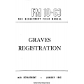 FM 10-63 Graves Registration Field Manual $2.95