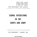 FM 11-22 Signal Operations in the Corps and Army Field Manual $2.95