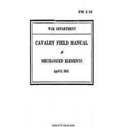 FM 2-10 Cavalry Field Manual Mechanized Elements $2.95