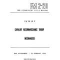 FM 2-20 Cavalry Reconnaissance Troop Mechanized Field Manual $2.95