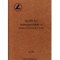 FW 190 A-1 Bedienungsvorschrift - FI Bedienung und Wartung des Flugzeuges $4.95