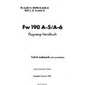 Focke-Wulf FW 190 A-5/A-6 Teil 3 Flugzeug-Handbuch $4.95