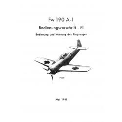 Focke-Wulf 190 A-1 Bedienungsvorschrift - Fl 1941
